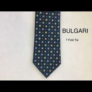 BULGARI 7Fold Silk Tie Davide Pizzigoni Design